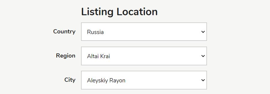 Classifieds script osclass - location in english