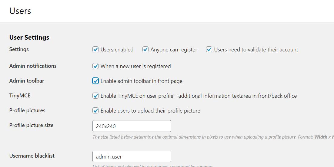 Classifieds script osclass - admin toolbar settings