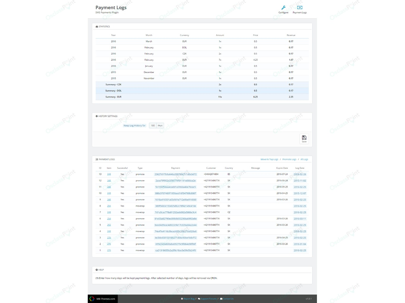 SMS Payments Plugin