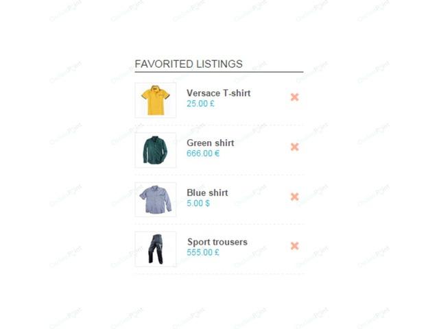Favorite Items Plugin - Osclass plugins - OsclassPoint.com