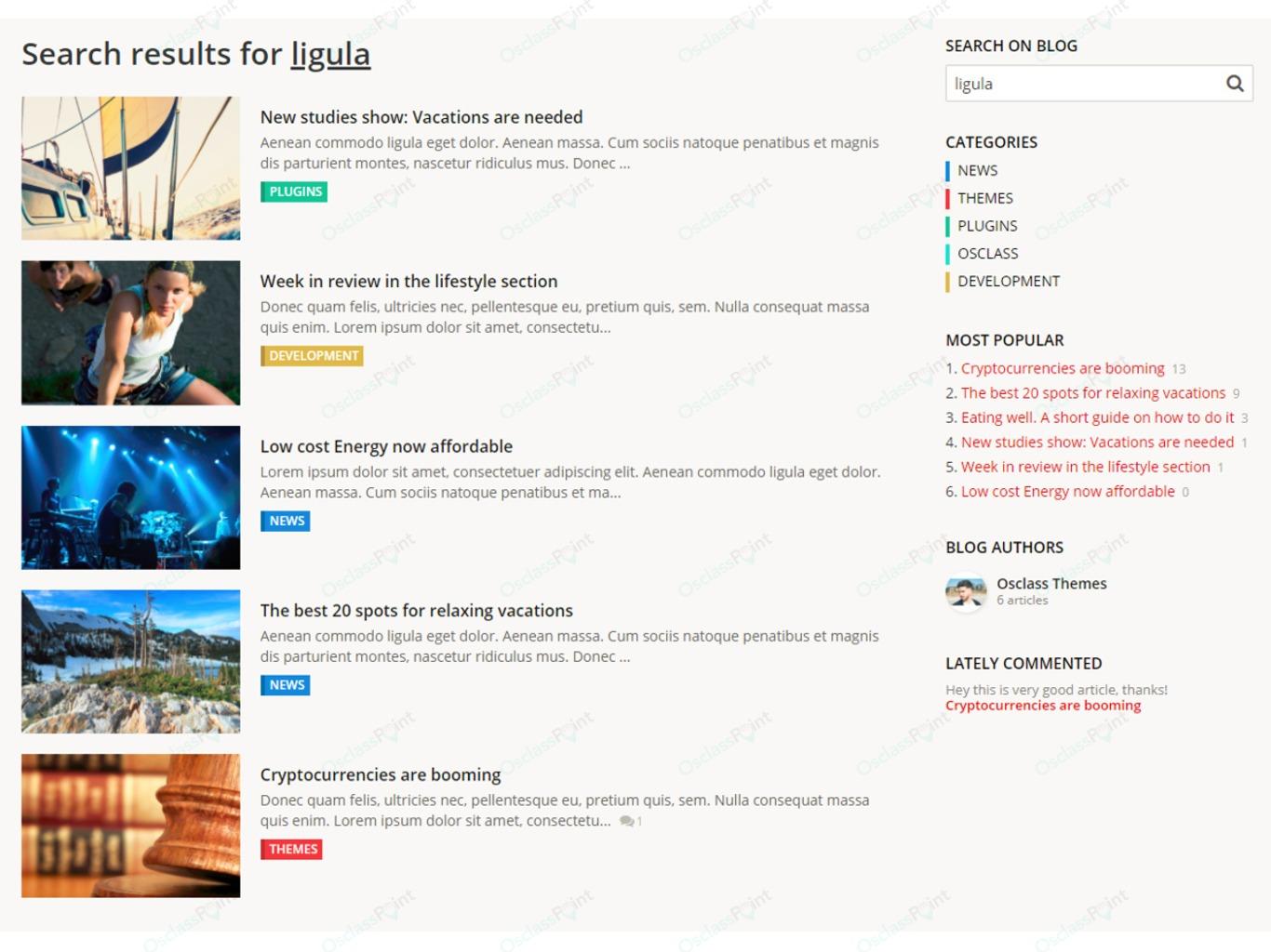 OsclassPoint.com - Osclass Blog and News Plugin